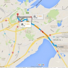 What is the distance between the airport and the city centre?